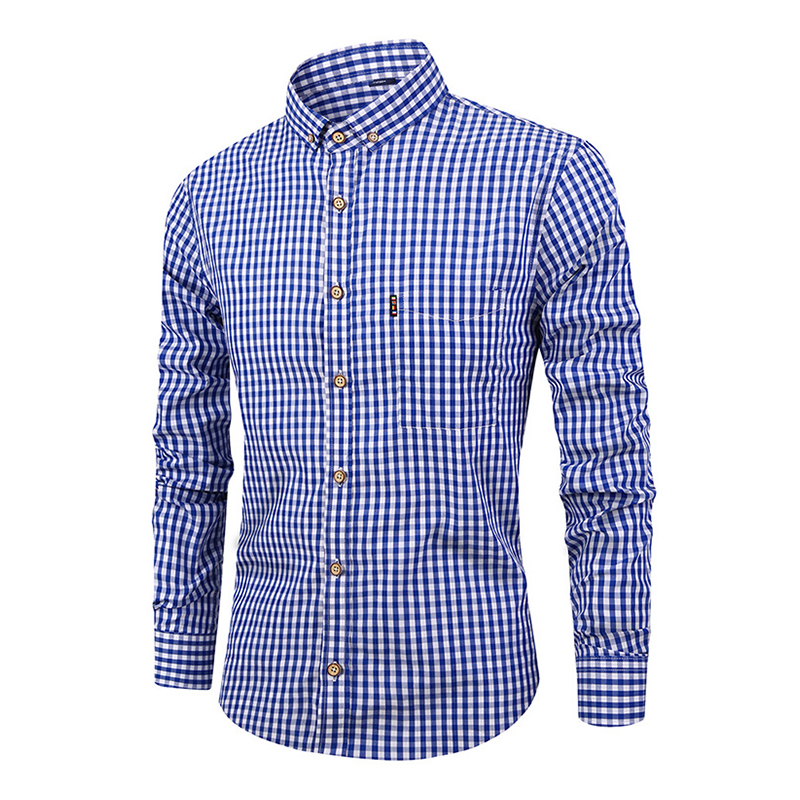 Image 4 - DAVYDAISY 2019 New Arrival Spring High Quality Men Shirt 100% Cotton Shirt Long Sleeved Fashion Causal Slim Fit Male Shrit DS282-in Dress Shirts from Men's Clothing