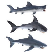 Shark Simulation Animal Model Action Figures Toy Educational Collection Gift easyway sea life gray shark great white shark simulation animal model action figures toys educational collection gift for kids
