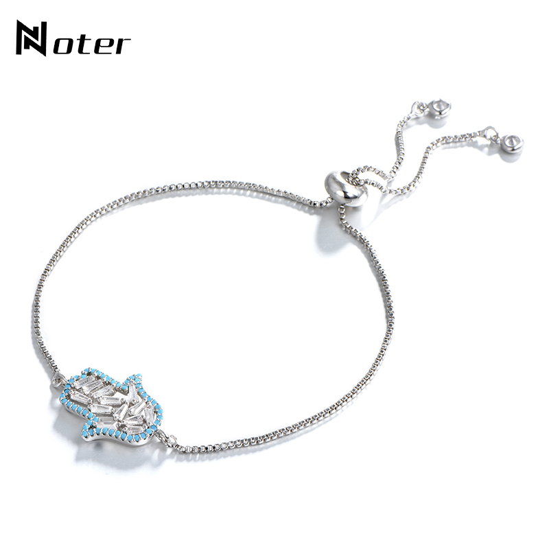 Trendy Fatima Hand Metal Bracelet Luxury Crystal Link Chain For Women Men Adjustable Jewelry Accessories Friendship Braslet Gift