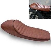 KaTur Motorcycle Cafe Racer Seat Hump 24.5Inch Vintage Saddle Seats for Honda CB GB GL CBR Suzuki GS Yamaha XJ XJ550 XT500 XS650