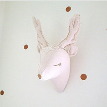 Handmade 3D Animal Head Wall Decorations Kids Baby Room Decor Nordic Stuffed Unicorn Deer Wall Hanging Mount Toys for Children(China)