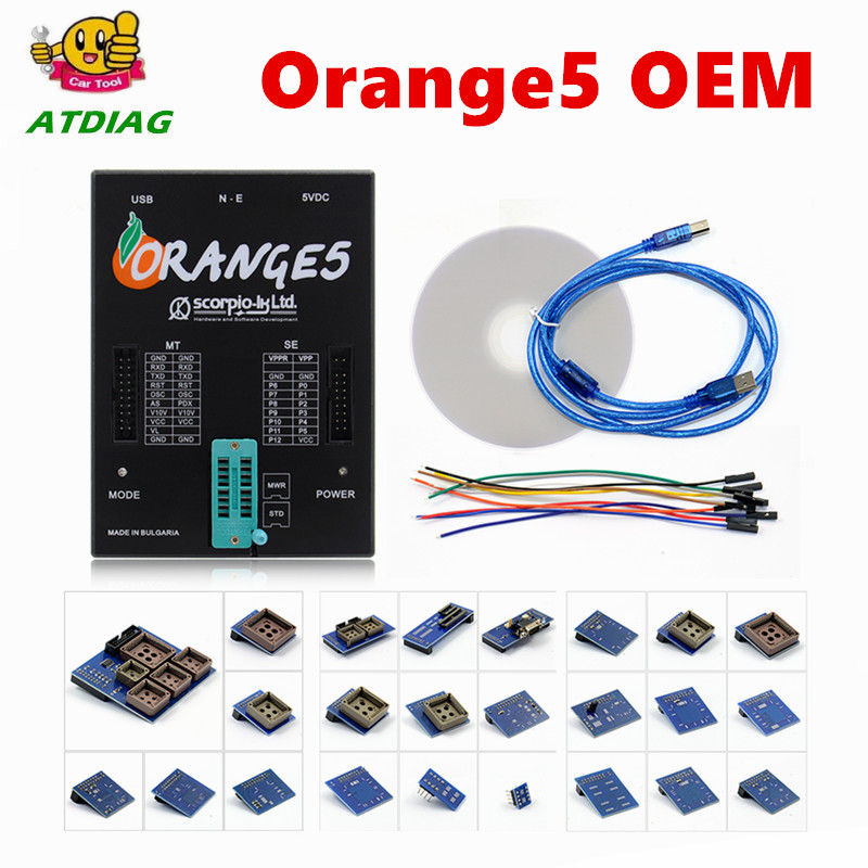 Free Shipping On Promotion Programmer OEM orange5 With Full Adapter orange5 programmer High Quality Orange 5
