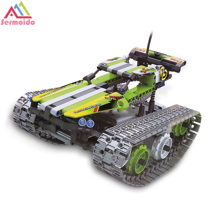 Legoing Technic Series 42065 397pcs RC Track Remote control Race Car Model building blocks Bricks toys for children Gift DBP337 in Blocks from Toys Hobbies