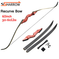 1pc 60inch Archery Recurve Bow 30 60lbs Bamboo Limbs Takedown Right/Left Hunting Bow For Outdoor Shooting Archery Practice