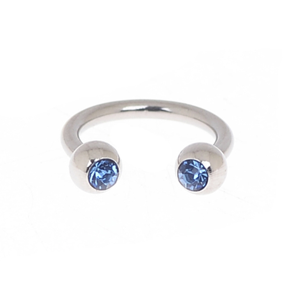 5Pcs Stainless Steel Horseshoe Bar CZ Nose Septum Ear Ring Stud Body Piercing