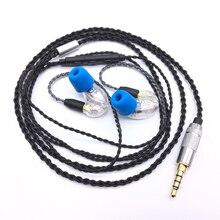 DIY SE215 HIFI Headset MMCX Upgrade Kabel Für Shure SE215 SE535 SE846 Kopfhörer Kopfhörer Kabel Mit Mic für iphone huawei xiami