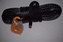 De alta Calidad Negro 12mm * 30 m Cuerda Sintética Del Torno, Kevlar Cable Del Torno, cabrestante cable gancho, reemplazo Cuerda Sintética para Winch