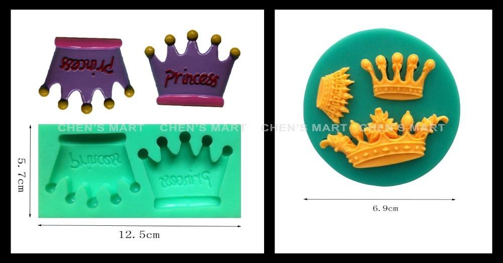 envo gratis unid g royal emperador rey princesa de la corona de encaje molde de silicona cake decorating icing fondant top