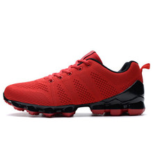 hot sale shock absorption sports shoes male black shoes light breathable