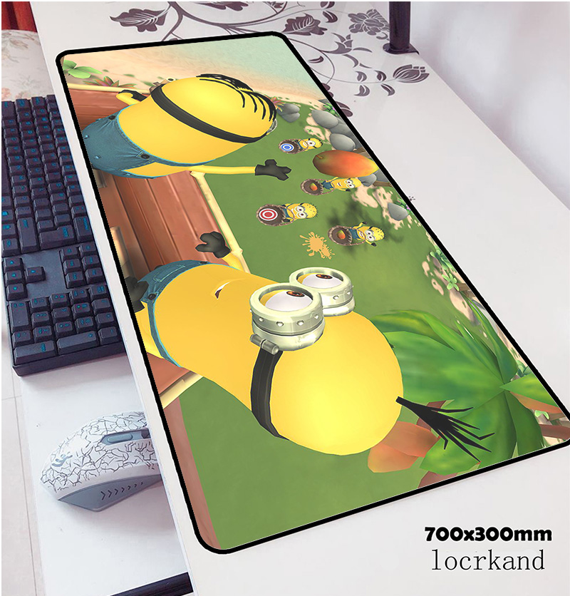Minions Mouse Pad 700x300x3mm Pad Mouse Notbook Computer Padmouse High-end Gaming Mousepad Gamer To Keyboard Mouse Mats