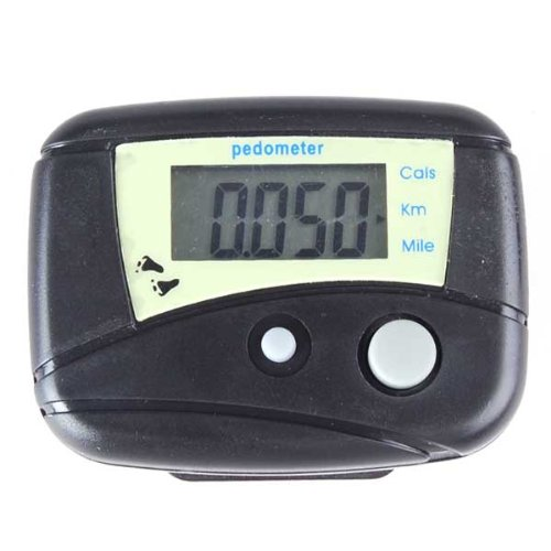 ELOS-Electronic Steps Black Digital LCD Run Step Run Pedometer Walking Calorie Counter Distance Clip