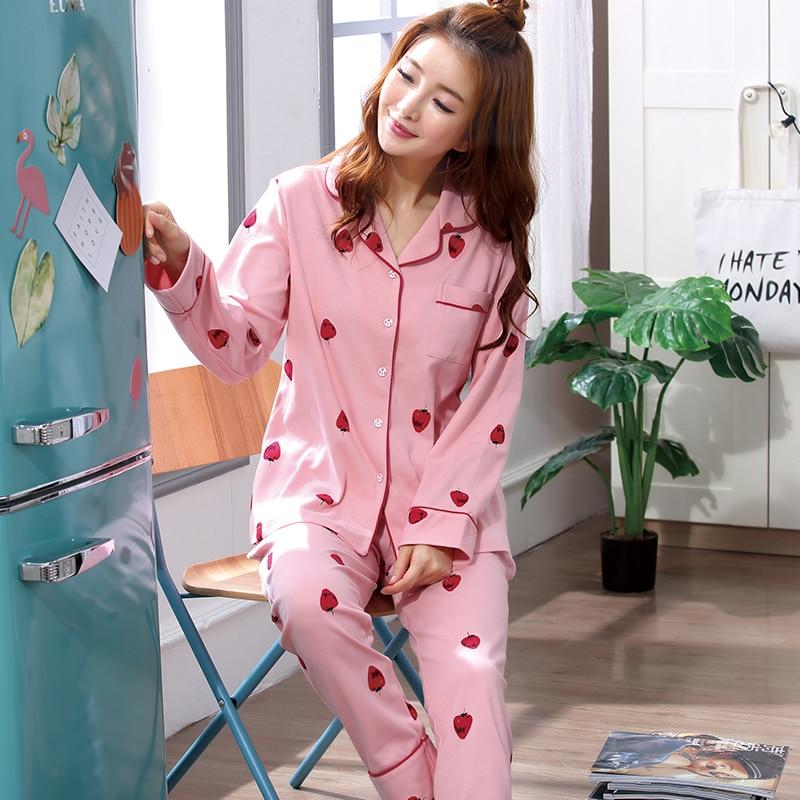 Pyjama set Femme Spring and autumn Pijamas Mujer Feminino long sleeved Pajamas Women Sleep Lounge nightwear 2018 new style
