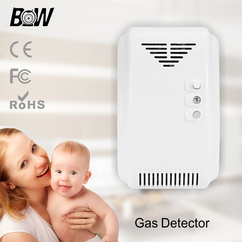 ФОТО BW 433 Mhz Security WiFi Wireless gas Sensor With Alarm System Leak Detector Work Wireless combustion Gas Detector