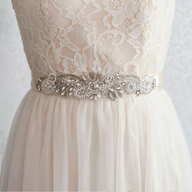 TOPQUEEN S280 Elegant Crystals Rhinestones Evening Party Prom Gown Dresses Accessories Bride Bridal Sashes Wedding Sashes Belts