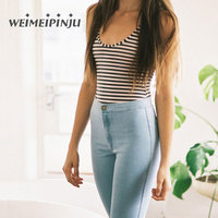 Womens Jeans Denim 2018 Spring Summer Candy Pencil Pants Stretch For Women Slim Ladies Jeans Feminina