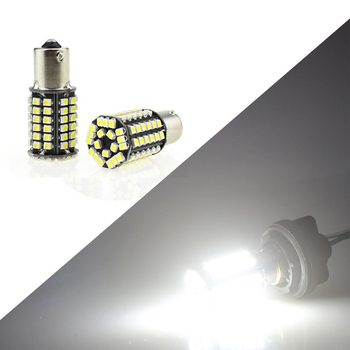 car Turn Signal Lights Brake lamp LED Bulbs Reverse Tail Stop S25 1156/1157 1210 80SMD P21W BA15S Wh image