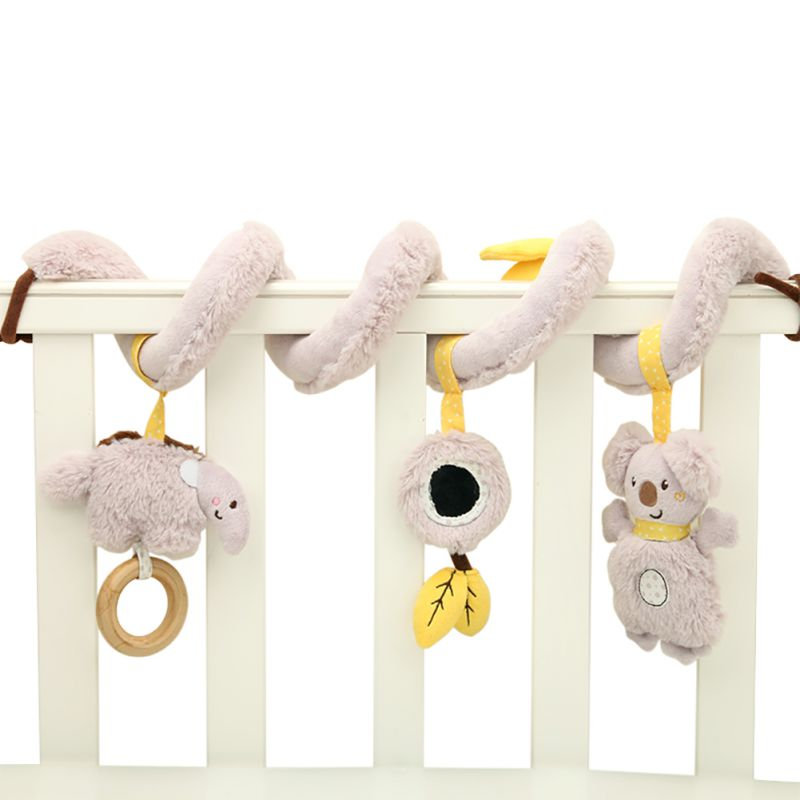 Lovely Baby Lathe Hanging Ring Animal Rattle Crib Hanging Baby Stroller Hanging Toys Teethers Stuffed Doll New