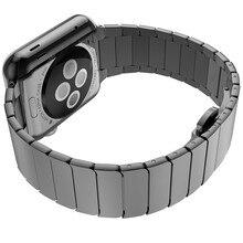 Hoco soportes para apple iwatch brazalete de eslabones de la banda de 42mm correas de reloj con función de liberación rápida de acero inoxidable de plata de oro