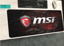 900x400mm msi mouse pad High-end pad to mouse notbook computer mousepad qck gaming padmouse gamer to laptop keyboard mouse mats(China)
