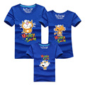 1 PCS Happy Smile Cartoon Cat T Shirts Funny Matching Family Clothes Father Mother Son Family Clothing Set Family Shirt DC66