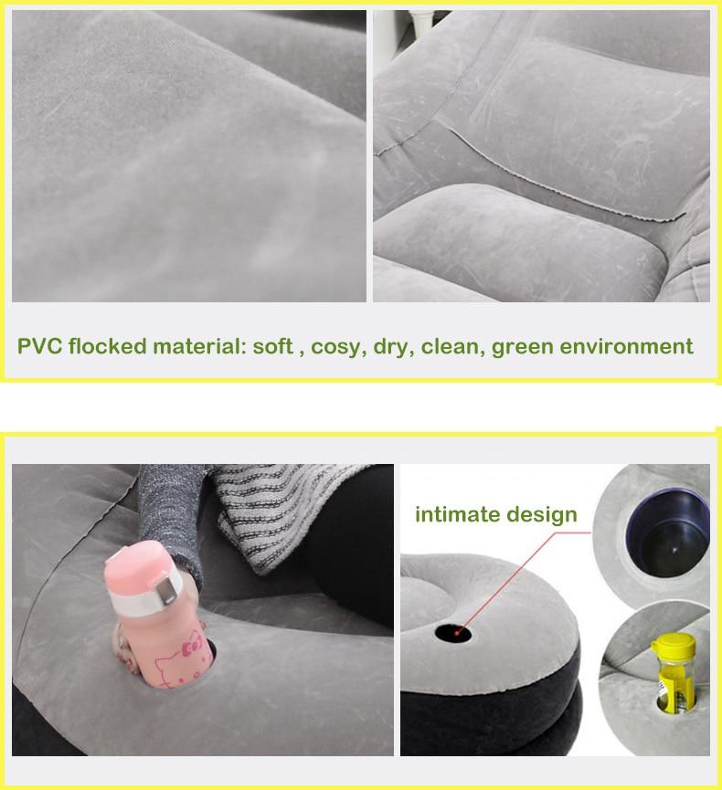Barato sofá inflable sillas con otomana PVC flocado material ...