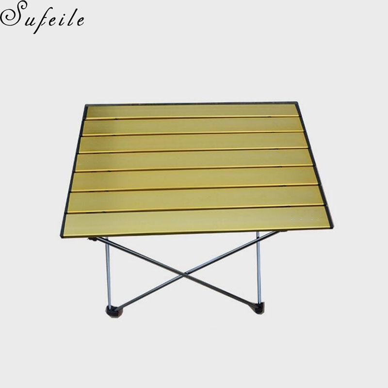 SUFEIL Multi-purpose outdoor folding table EAerospace Aluminum Outdoors Folding Camping Table D50