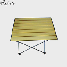 SUFEIL Multi-purpose outdoor folding table EAerospace Aluminum Outdoors Folding Camping Table D50