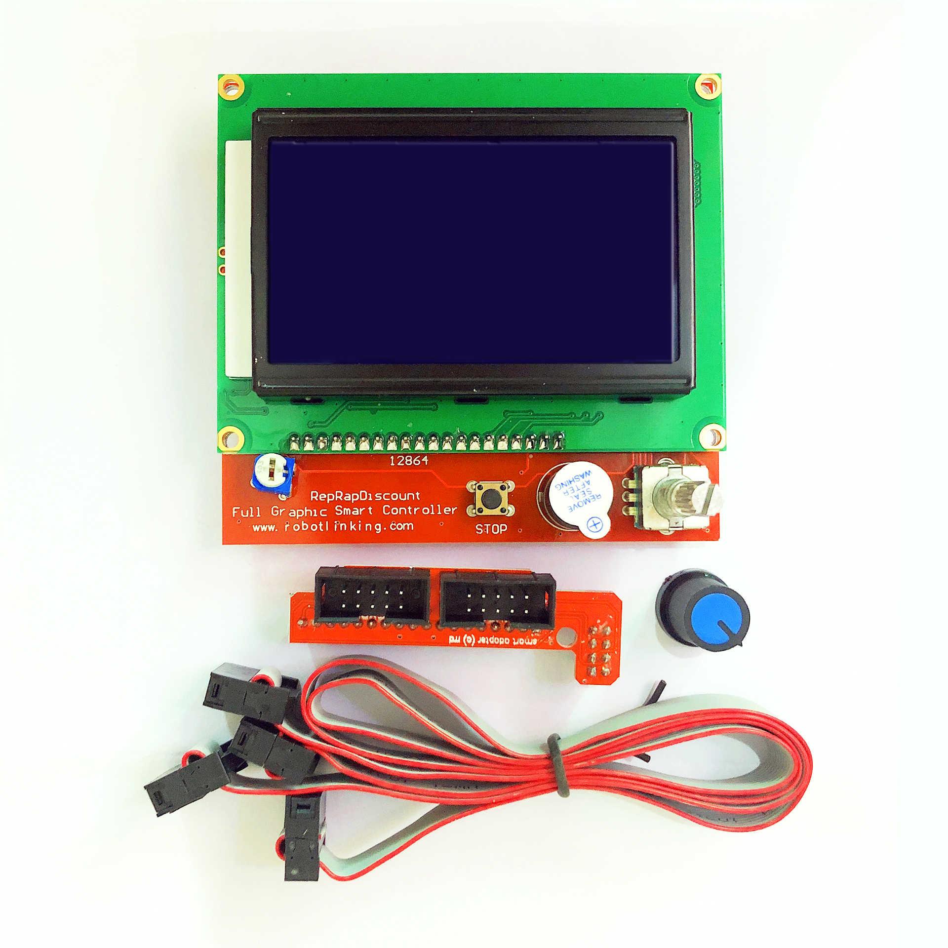 RepRap RAMPS 1,6 комплект с МЕГА 2560 r3 + тепловым MK2B + 12864 ЖК-контроллер + DRV8825 + механический переключатель + кабели для 3D-принтера
