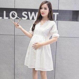 Image 3 - סיעוד שמלת נשים קצר שרוול הנקה קיץ שמלת עבור האכלת יולדות הריון בגדים בתוספת גודל סיעוד שמלה