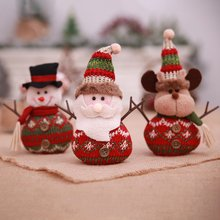 New Year Christmas Decorations Burlap Dolls Christmas Decorations Old Man Scene Dress Up Children's Holiday Gifts Party(China)