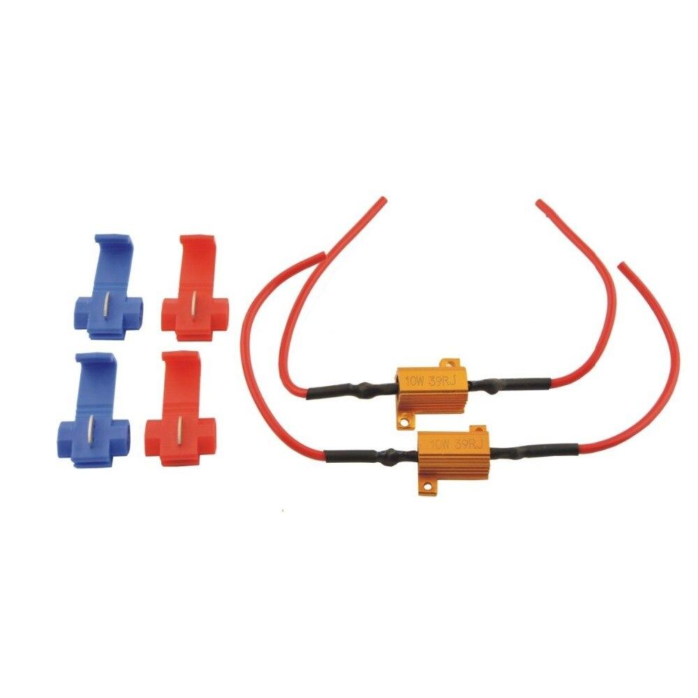 2PCS 10W 39 ohm Car Universal canbus Load Resistor Protector for Car Turn led Signal Led Bulb Lamps fog lamp LED lamp 10w 39ohm 10x 5w watt 2r2 2 2 ohm 5