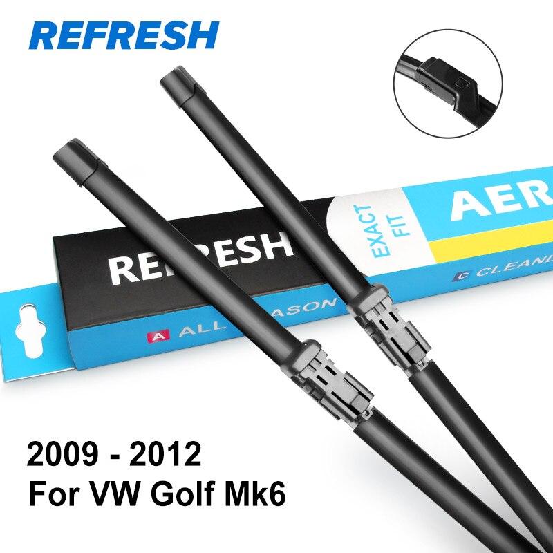 REFRESH Щетки стеклоочистителя для Volkswagen VW Golf Mk4 / Mk5 / Mk6 / Mk7 Модельный год с 2002 по год - Цвет: 2009 - 2012 ( Mk6 )