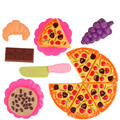 Kitchen Toys Fruit Pizza Party Fast Food Slices Cutting Pretend Play Food Children Kids Toy Game
