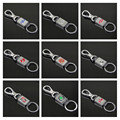 23 Brands Metal Boutique Square Keychain For Auto With Logo Keyring Vehicle Key Chain Ring KEYFOB CNYOWO