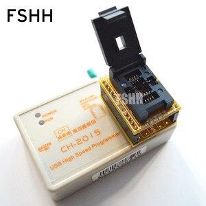 Image 2 - SPEDIZIONE GRATUITA! USB Programmatore SPI FLASH ad alta velocità CH2015 + 6X8 QFN8/WSON8/DFN8 Adapter 24/93/25/SPI FLASH/EEPROM Programmatore