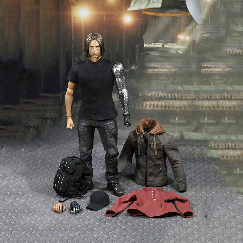 1/6 ATX022 Civil War Captain America Winter Soldier Bucky Figure and Clothing Set gare thompson civil war battleship the monitor level 4