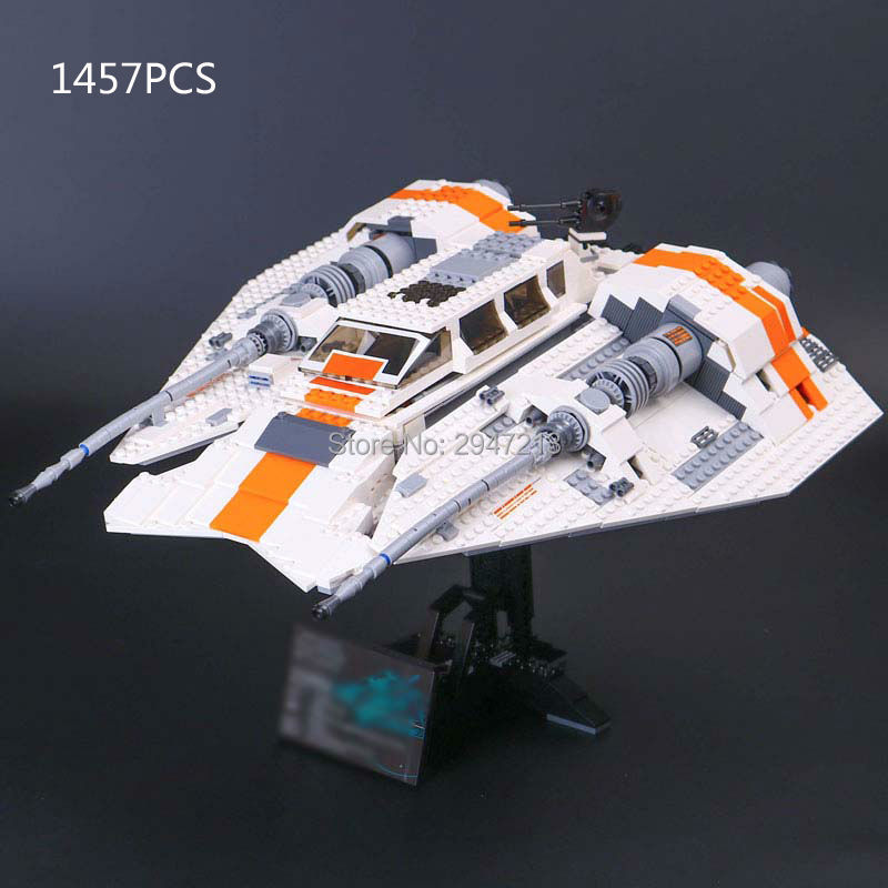 hot lepin compatible LegoINGlys Star Wars brick Rebel snow fighter with mini rex figure Building blocks modle Toys for children hot compatible legoinglys marvel super hero avengers batman fighter building blocks modle robin clown figures brick toys gift