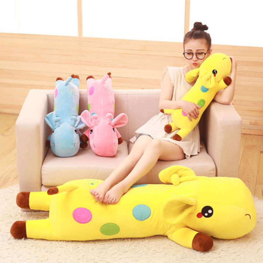 New Cute Plush Giraffe Toys Soft Colorful Animal Dear Doll Kawaii Toy For Baby Kids Children Girls Present Birthday Gift 70C0063 4 colors pusheen plush cute soft animal toy giraffe plush doll birthday gift toys for children 18cm baby dolls free shipping