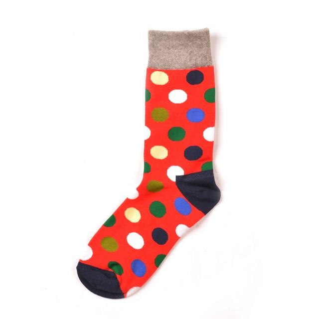 Jhouson 1 pair Colorful Men's Cotton Crew Funny Socks Watermelon Corn Spaceman Pattern Novelty Skateboard Socks For Gifts 6