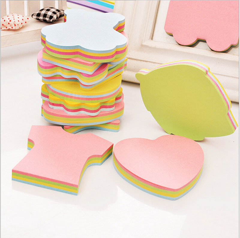 Creative Stationery Various Modeling Post It Notes Special Shaped Removable Note Papers N Times With 100 Multicolored Papers