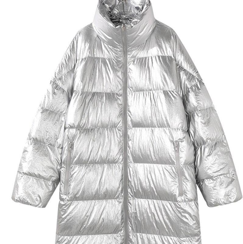 Veste Porter Taille Peut Long Côtés Européenne Blanc 2019 silver Noir golden Clothesqh156 Femelle Double Femmes D'oie D'hiver Grande Lâche Manteau Duvet Espace q06xtO7