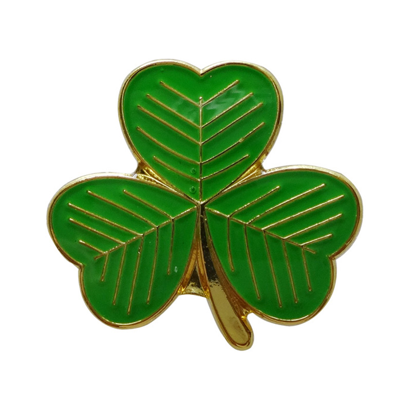 Mini Irish clover leaf badge gifts Iron plated in Nickel butterfly button Free shipping 300 pcs