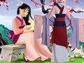 Mujer Cosplay Adulto Princesa Mulan Traje Azul Vestido FilmMovie de Halloween Traje Personalizado