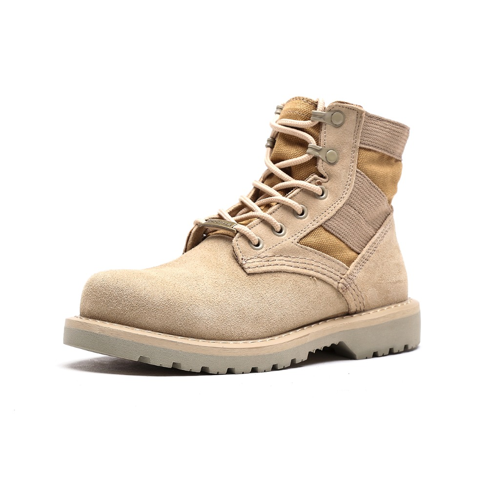 OTTO Men Palladium Style for 2018 High top Military Ankle Boots Casual Canvas Shoe Comfortable Leather