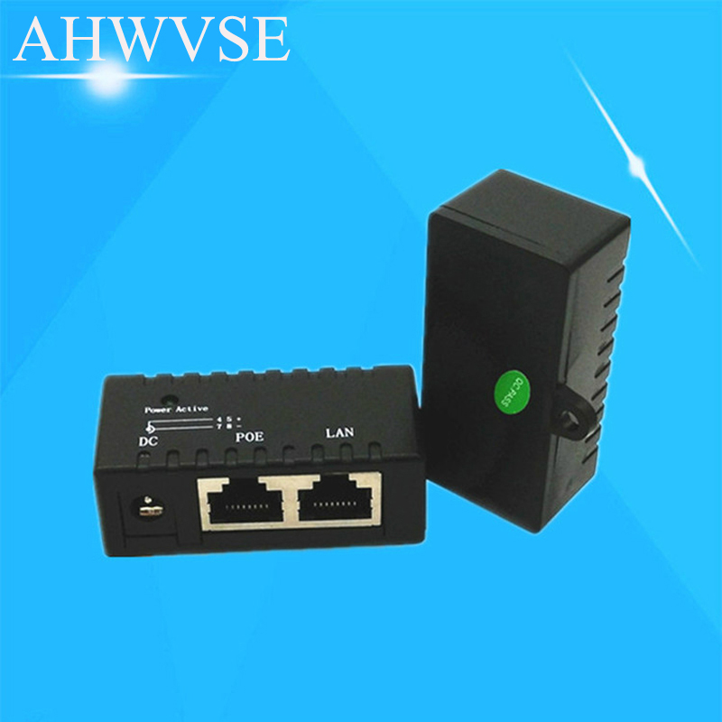 10/100Mbp Passive POE DC Power Over Ethernet RJ45 POE Injector Splitter Wall Mount Adapter For IP Camera AP LAN Network built in 48v poe cable lan cable for cctv ip camera board module poe adapter power over ethernet lan rj45 dc ports cables