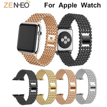 Metal Strap for Apple Watch Band Series 3/2/1 38mm 42mm replacement wristband for Apple Watch 4 40mm 44mm Bracelet Watch straps цена и фото