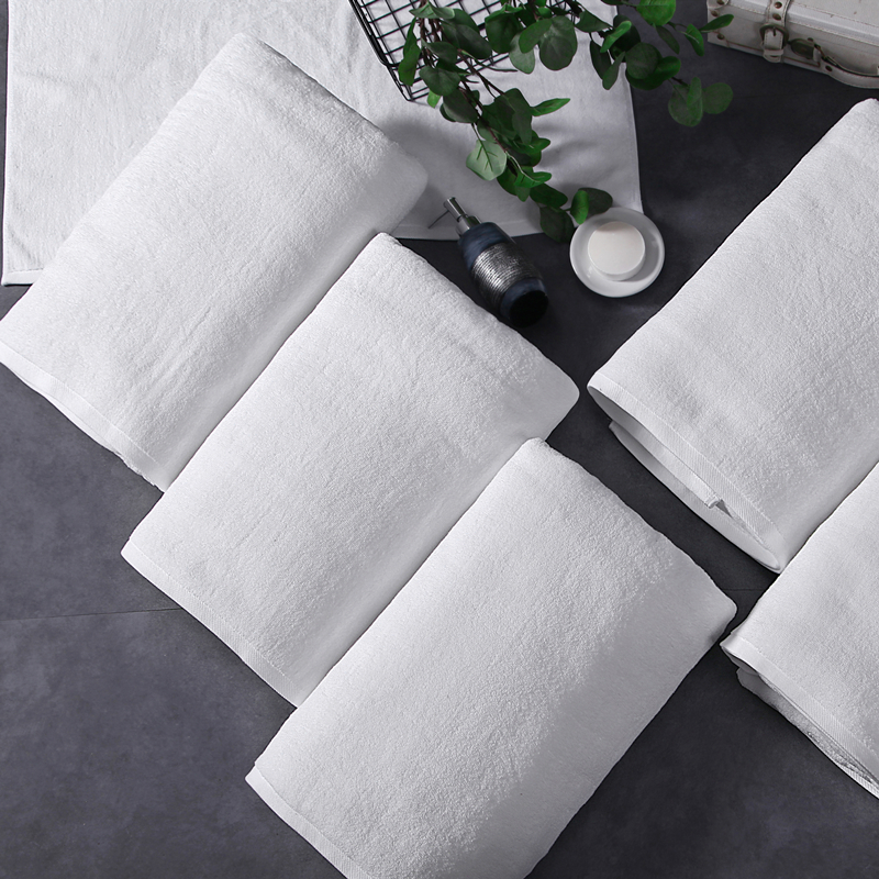 Luxury Hotel Cotton Bath Towel Custom Print Swimming White Large Towel Thick Absorbent Christmas Gift Household