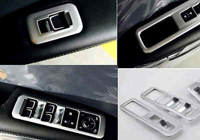 4x Chrome Door Window Switch Decorator Cover Trims For <font><b>LEXUS</b></font> <font><b>RX200t</b></font> Rx450h 2016 image