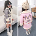 Fashion Winter Girls Jackets Coats Cartoon Rabbit Children Clothing Kids Long Coat Warm Autumn Outerwear Clothes N38562