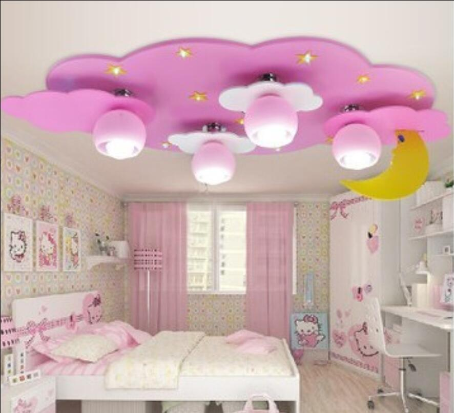 Childrens room ceiling lamp, dome cloud, moon light, male girl, cartoon creative childrens bedroom lamp, LED lamp ET62